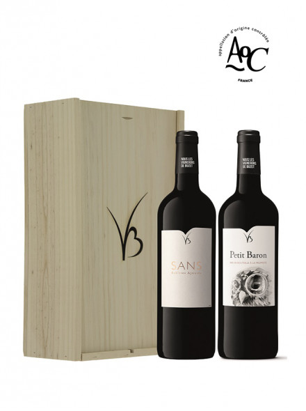 Coffret vin rouge 2 bouteilles 75cl Signature
