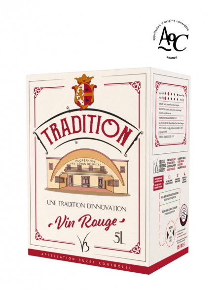 bag in box vin rouge AOC Buzet Tradition 5 litres