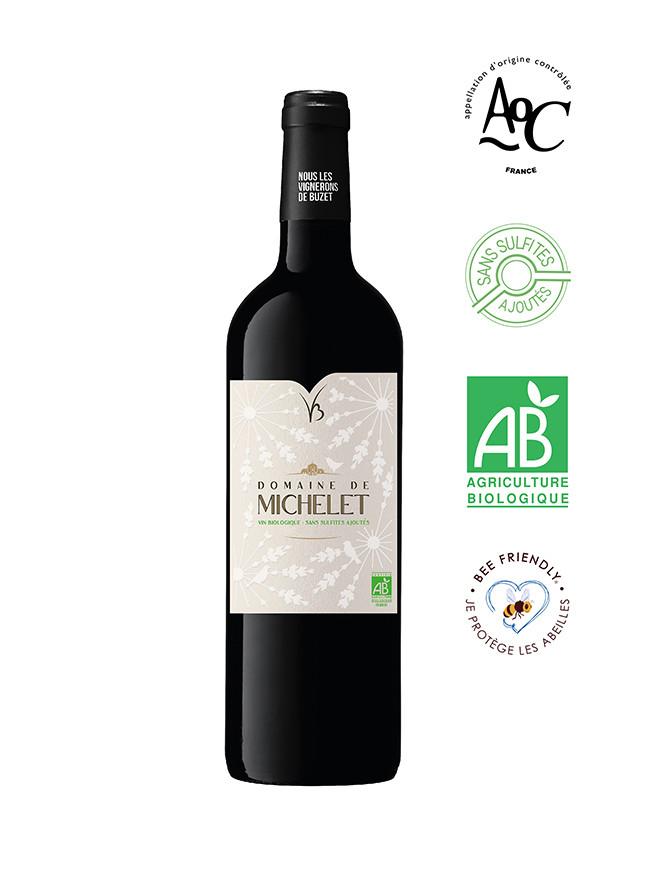 DOMAINE DE MICHELET vin bio sans sulfite AOC Buzet