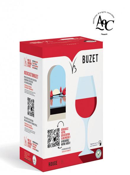 vin rouge AOC Buzet format 5L dédicace