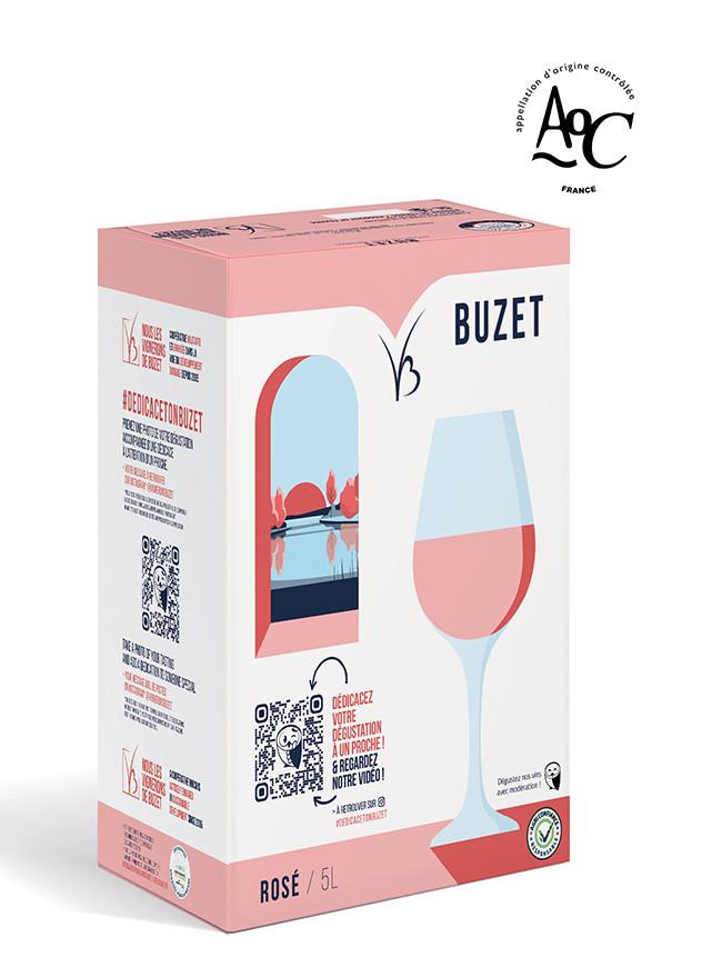 Cubi ultra design vin rosé AOC Buzet 5 litres