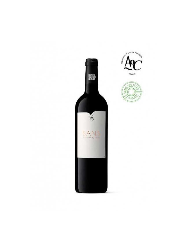Sans, vin rouge sans sulfites ajoutés, bouteille 75cl