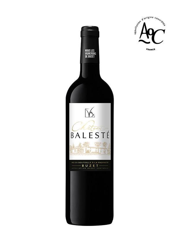 Vin rouge Château Balesté, AOC Buzet, millésime 2016
