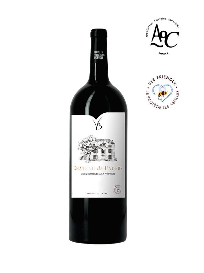 Magnum Château de Padère vin rouge AOC Buzet 2016