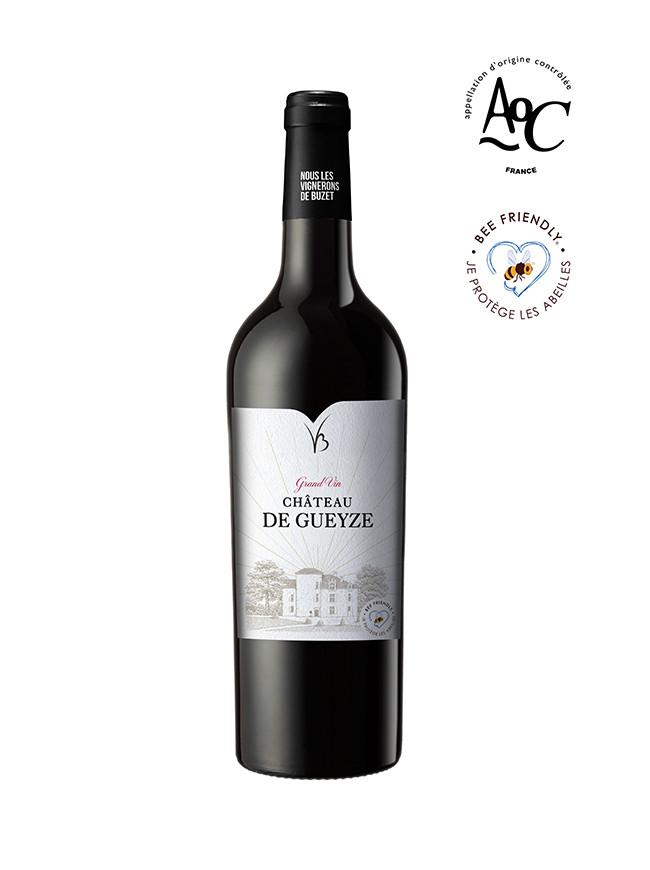 Château de Gueyze vin rouge AOC Buzet 2016, certifié Beefriendly
