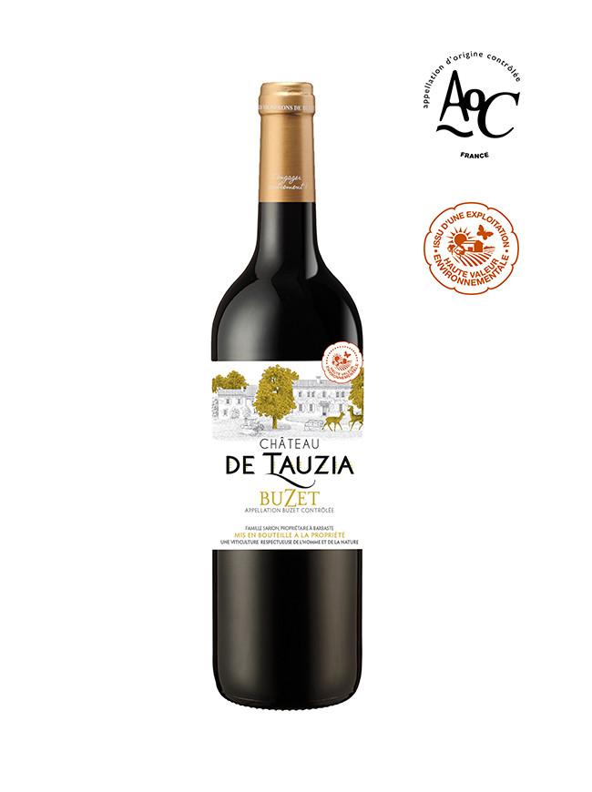 vin rouge aoc buzet, Château de Tauzia, certifié HVE