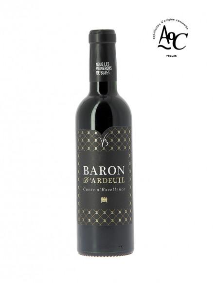 demi bouteille, Baron d'Ardeuil vin rouge AOC Buzet 37,5 cl 2015