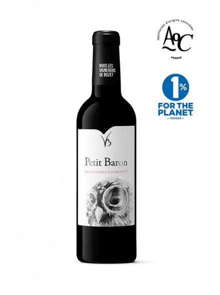 demi bouteille Petit Baron vin rouge AOC Buzet 2016 37.5cl