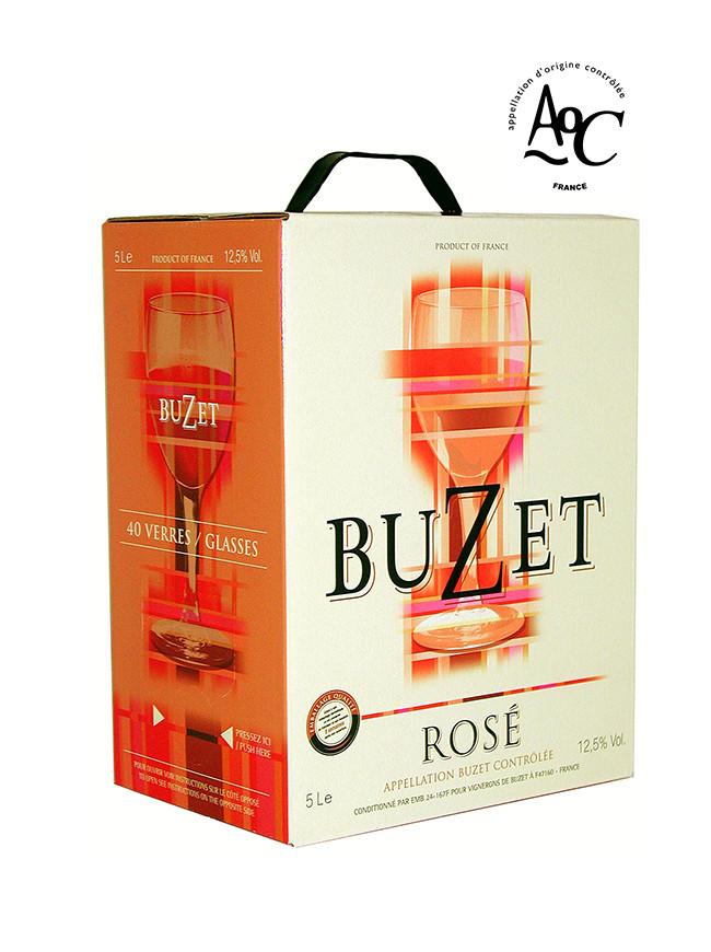 """Buzet Bag in Box® """"cubi"""" Vin rosé AOC  5 L"""